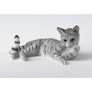 Border Fine Arts Cat Lying (Grey) Figurine