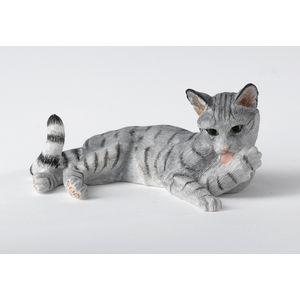 Border Fine Arts Studio Collection Figurine - Cat Lying (Grey)