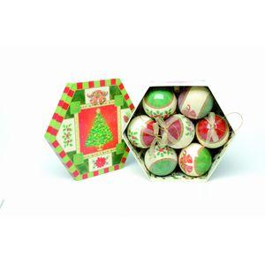 Bells & Berries Decoupage Baubles set of 7