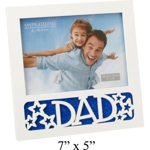 "Dad Square Photo Frame 7"" x 5"""