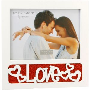 """Juliana Impressions White Photo Frame 7"""" x 5"""" - Love"""