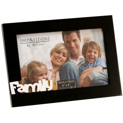 "Impressions Cut Out Letters Photo Frame 6"" x 4"" - Family"