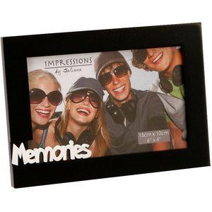 "Impressions Black Photo Frame 6x4"" - Memories"