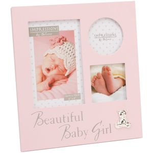 Collage Photo Frame - Beautiful Baby Girl (pink)