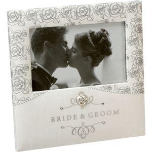 "Juliana Impressions Roses Wedding Photo Frame 4"" x 6"" - Bride & Groom"