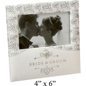 Wedding Photo Frame-Rose Design 4x6""