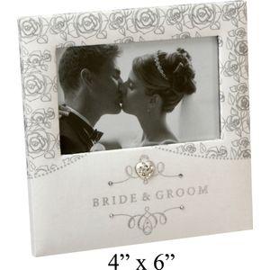 "Wedding Photo Frame-Rose Design 4x6"""
