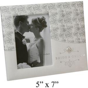 "Wedding Photo Frame Rose design 5x7"""
