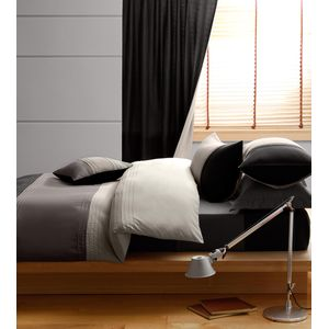 Synergy Black Duvet Cover & Fitted Sheet Bedding Set