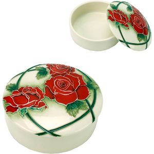 Old Tupton Ware Trinket Box with Passion Rose design