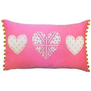 Catherine Lansfield Vintage Britannia Cushion Cover 50cm x 30cm - Pink