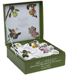 Heath McCabe Fine Bone China Mugs Set of 4 - Fruit Collection: Apple Blossom