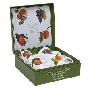 Heath McCabe Fine Bone China Mugs Set of 4 - Fruit Collection