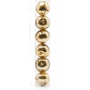 Christmas Tree Baubles - Gold Jingle Pack of 6
