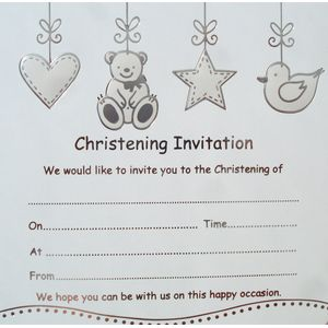 Christening Invitations pack of 10