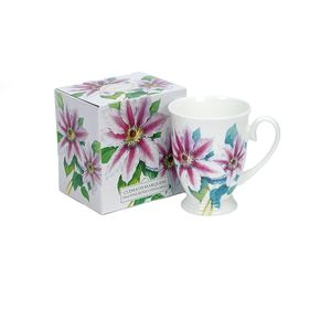 Heath McCabe Gift Boxed Marquess Fine Bone China Mug - Clematis