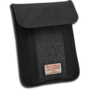 Harris Tweed Tablet Sleeve Case: Grey/Black Herringbone