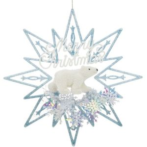 Merry Christmas Polar Bear Hanging Ornament