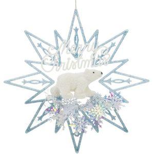 Weiste Christmas Tree Decoration - Merry Christmas Polar Bear Star