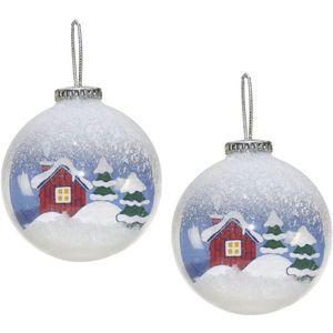Weiste Christmas Tree Decorations Set of 2 - Snow Scene Bauble