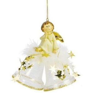 Angel on Bells Christmas Tree Decoration(Gold) x2