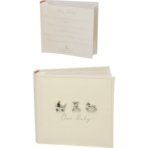 Our Baby photo album linen covered holds 100 photos
