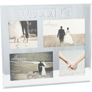 Wedding Multi Mirror Collage Photo Frame holds 4 photos