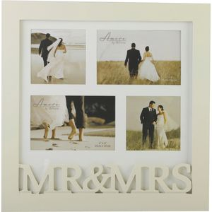 Wedding Mr & Mrs Collage Photo Frame - Holds 4 picture