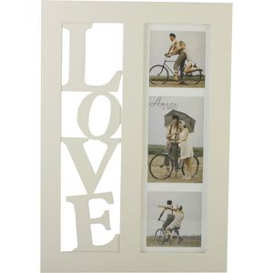"""LOVE"" Triple Collage Photo Frame"