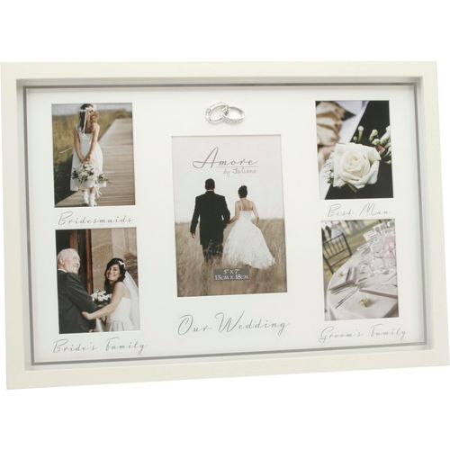 Juliana Amore cream Wedding Day multi aperture photo frame (Amore ...