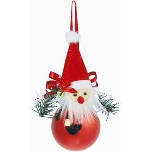 Santa Face Bauble Hanging Christmas Tree Decoration x2