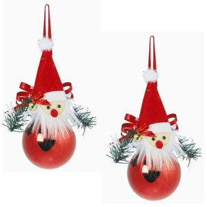 Weiste Christmas Tree Decorations Set of 2 - Red & White Collection - Santa Face
