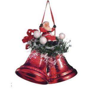 Weiste Santa on Swing Bells Christmas Tree Decoration (Red)