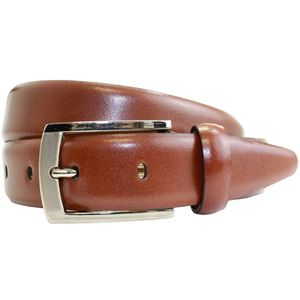 Polished Leather Suit Belt -Tan (M)