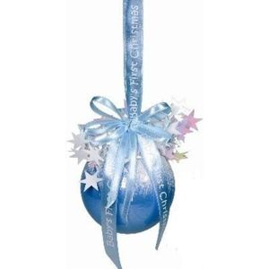 Babys First Christmas Tree Bauble (Blue)