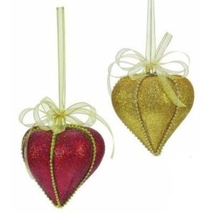 Red & Gold Festive Christmas Tree Decorations x4