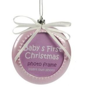 Babys First Christmas Tree Ornament (Pink)