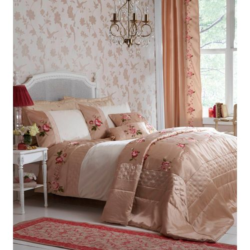 Catherine Lansfield Amalie Single Bed Quilt Cover Set - Natural