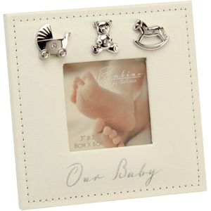 "Juliana Bambino Embellished Photo Frame 3"" x 3"" - Our Baby"