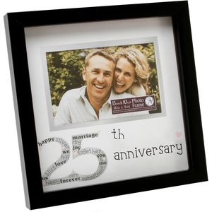 "New View Photo Frame 6x4"" - 25th Anniversary Silver Wedding"
