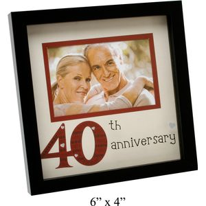 40th Anniversary Photo Frame 6x4""