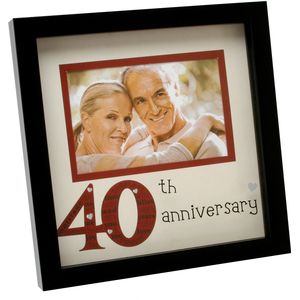 "New View Photo Frame 6x4"" - 40th Anniversary"