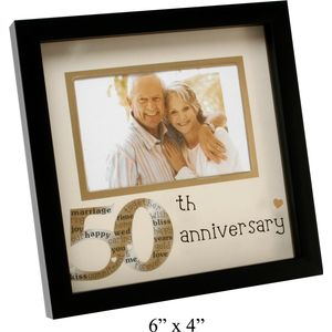 50th Anniversary Photo Frame 6x4""