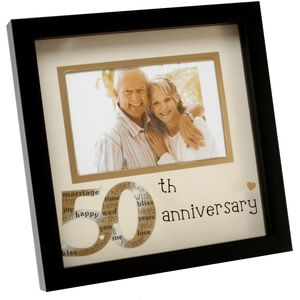 "New View Photo Frame 6x4"" - 50th Anniversary"