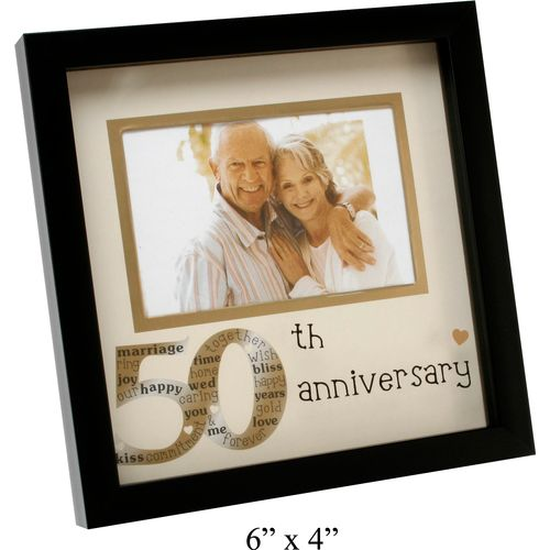 50th Anniversary Photo frame especially to celebrate a Golden ...