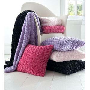 Catherine Lansfield Black Curly Throw