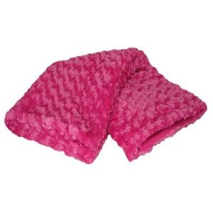 Catherine Lansfield Curly Throw 127cm x 152cm - Hot Pink