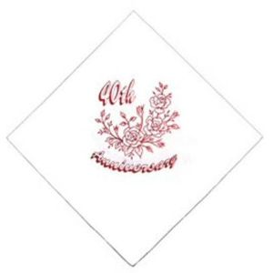 40th Ruby Anniversary Napkins x60