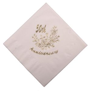 50th Golden Anniversary Napkins x60