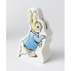 Beatrix Potter Ceramic Money Bank - Peter Rabbit Running